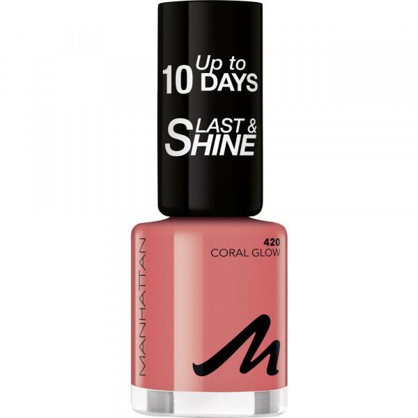 Nagellack Last & Shine, Coral Glow 420