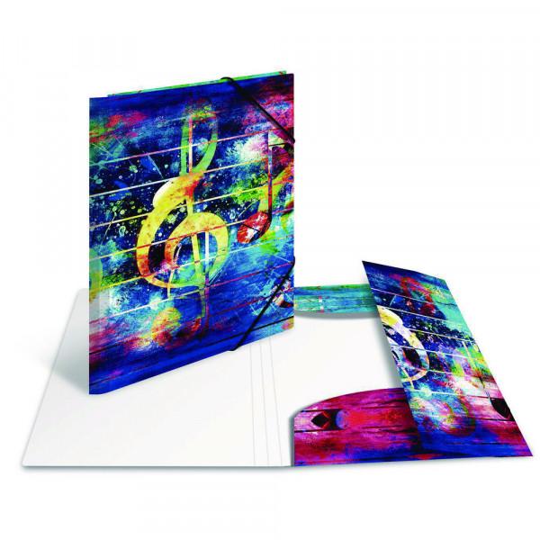 "Eckspannermappe ""Artline"", PP, DIN A4, Music"