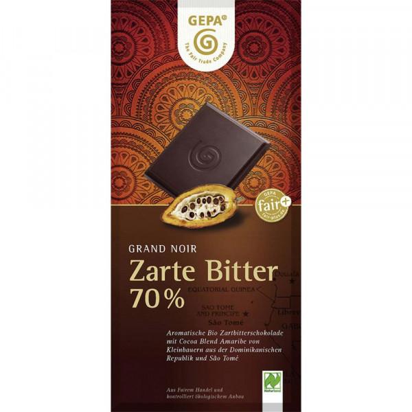 Bio Tafelschokolade, Zartbitter 70%