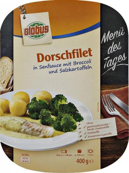Dorschfilet in Senfsauce mit Broccoli & Kartoffeln