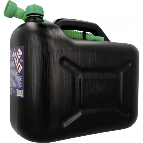 Benzinkanister 20l Kunststoff, schwarz