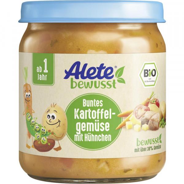 Babynahrung, Bio Kartoffelgemüse mit Hühnchen