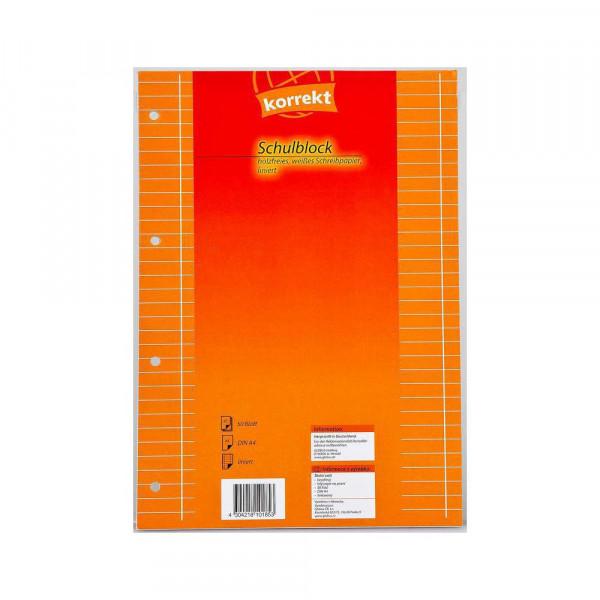 Schulblock A4, Lineatur 27, 50 Blatt