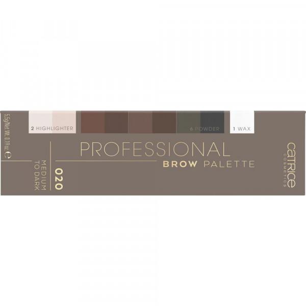Augenbrauenpalette Professional Brow Palette, Medium to Dark 020