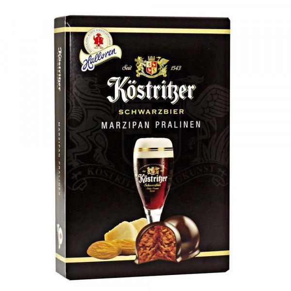 Schwarzbier-Marzipan Pralinen