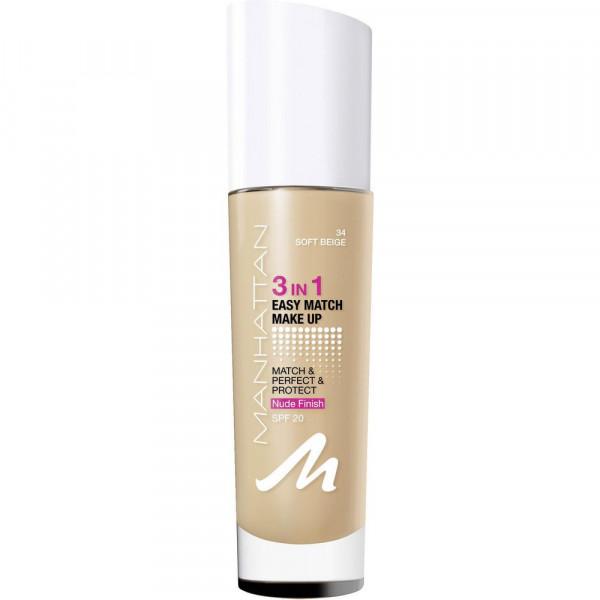 Make-Up Easy Match 3 in 1, Soft Beige 34