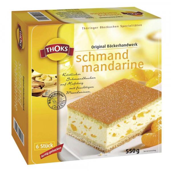 Schmand-Mandarine Kuchenschnitten, tiefgekühlt