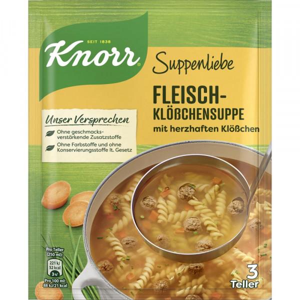 Suppenliebe Fleischklößchen Suppe