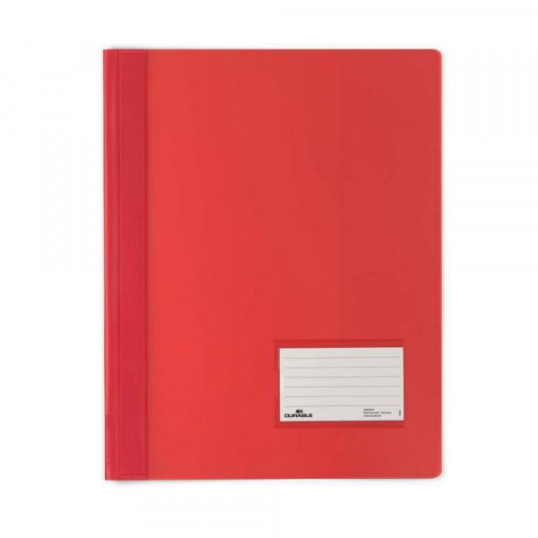 Schnellhefter, A4, Kunststoff, rot