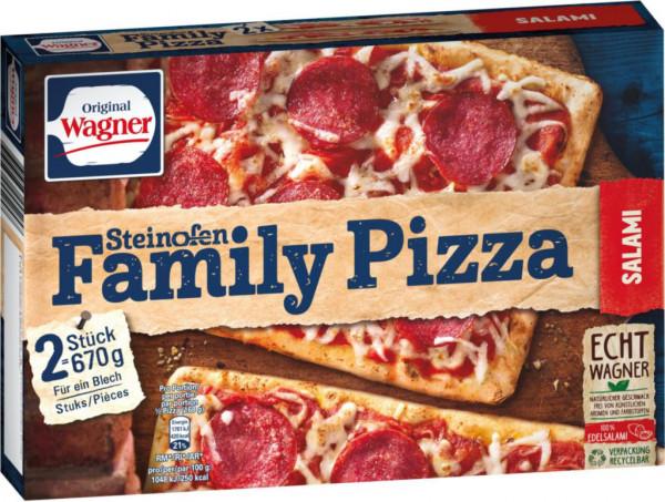 Steinofen Family Salami Pizza, tiefgekühlt