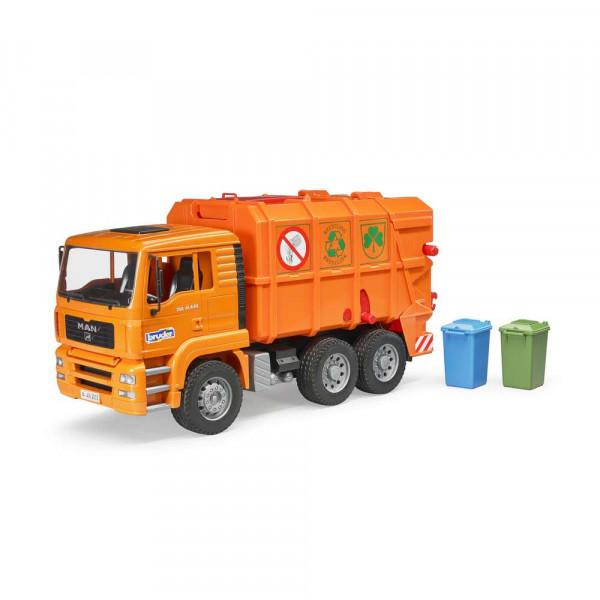BRUDER MAN TGA Müll-LKW orange