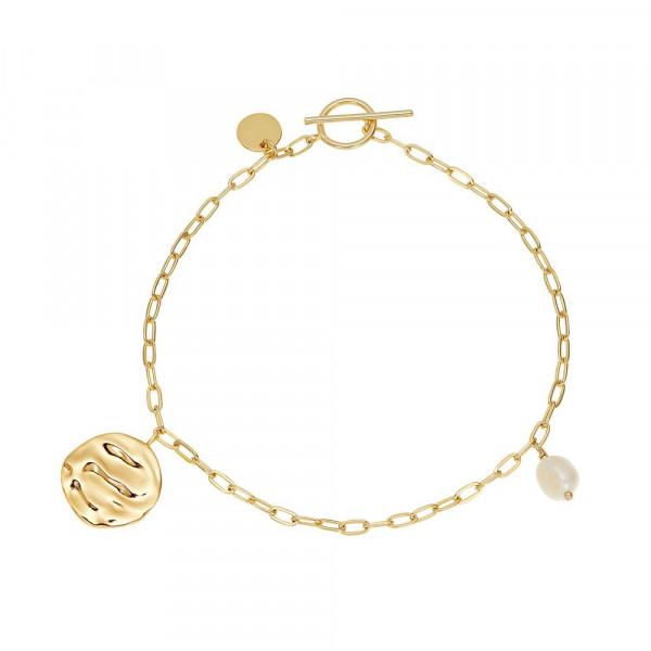 Damen Armband aus Silber 925 mit Süßwasserzuchtperle, vergoldet (4056874025201)