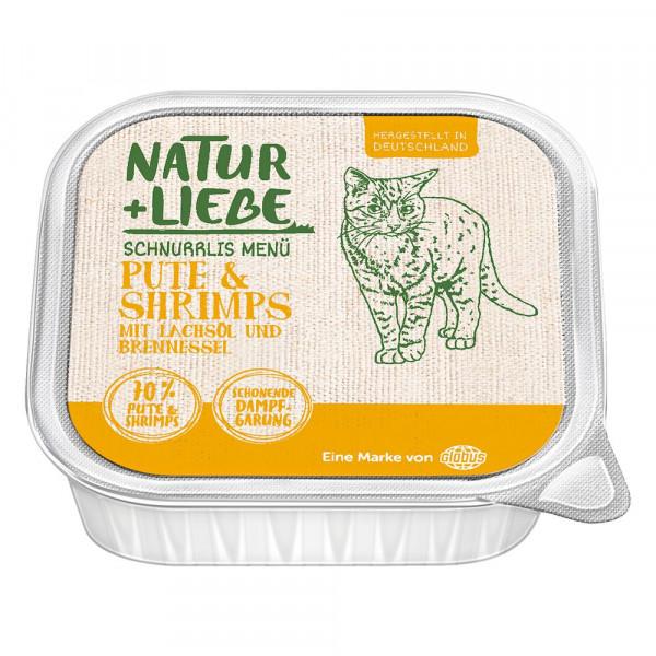 Katzen-Nassfutter mit Pute, Shrimps, Lachsöl und Brennessel