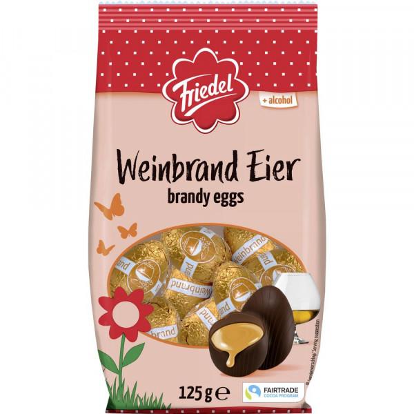 Schokoladeneier, Weinbrand