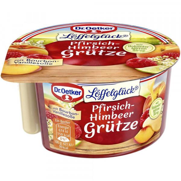 """Pfirsich-Himbeer-Grütze """"Löffelglück"""""""