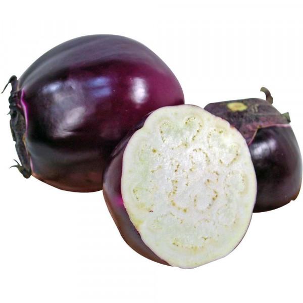 Gourmet Auberginen, rund & violett