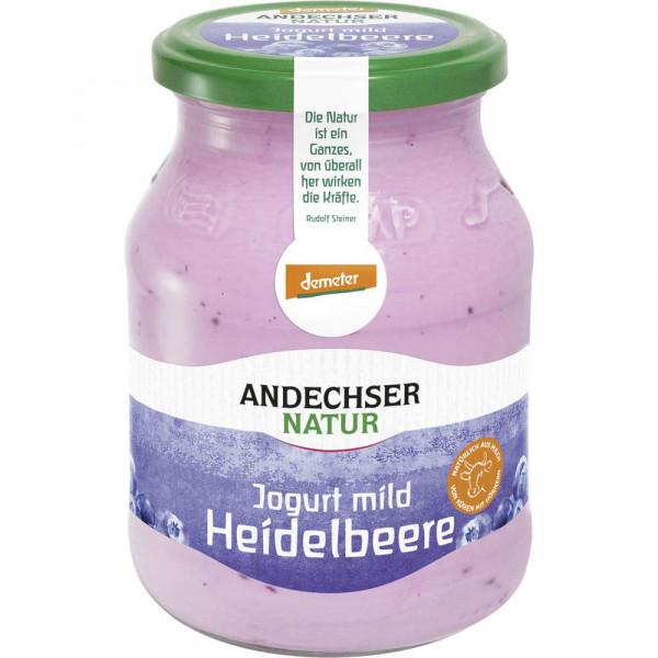 Bio Demeter Joghurt Heidelbeere 3,7%, 500g MW