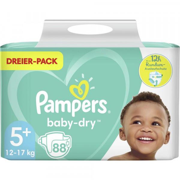 Windeln Baby Dry Gr. 5+, 12-17kg Dreierpack