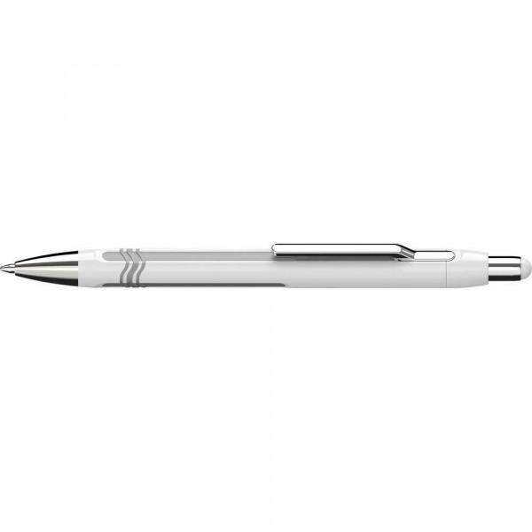 "Kugelschreiber ""Epsilon"" extra breit, weiß-silber"