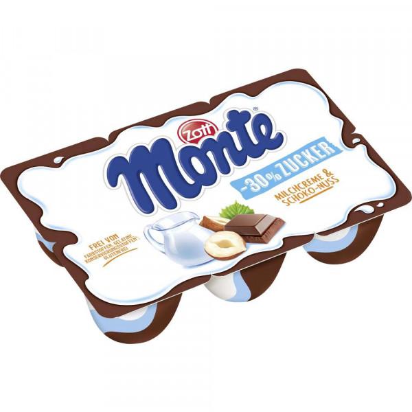 Monte Milchdessert, -30% Zucker