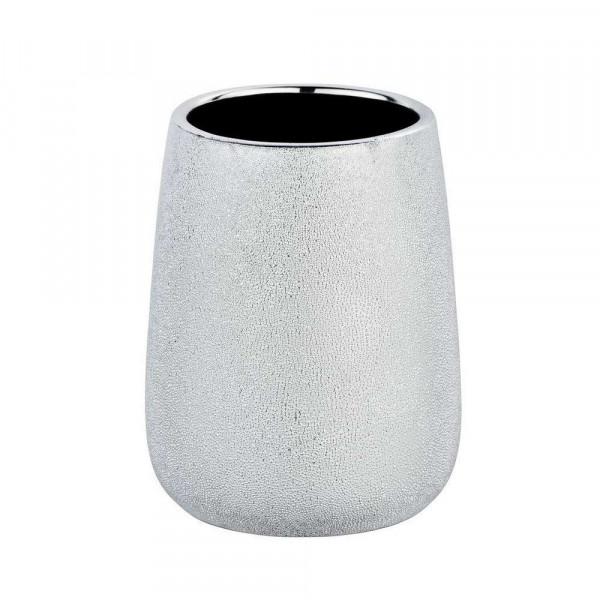 "Zahnputzbecher ""Glimma"", Keramik/silber"