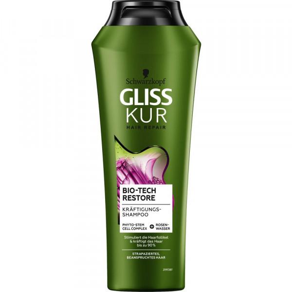 "Shampoo ""Gliss Kur"", Bio-Tech Restore"