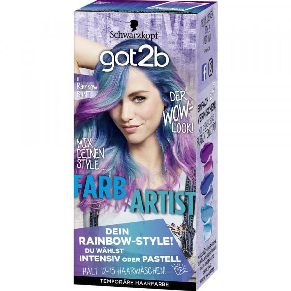 """Haarfarbe """"got2b"""", 111 Rainbow bunt"""