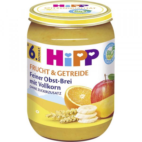 """Babynahrung """"Frucht & Getreide"""", Obstbrei mit Vollkorn"""