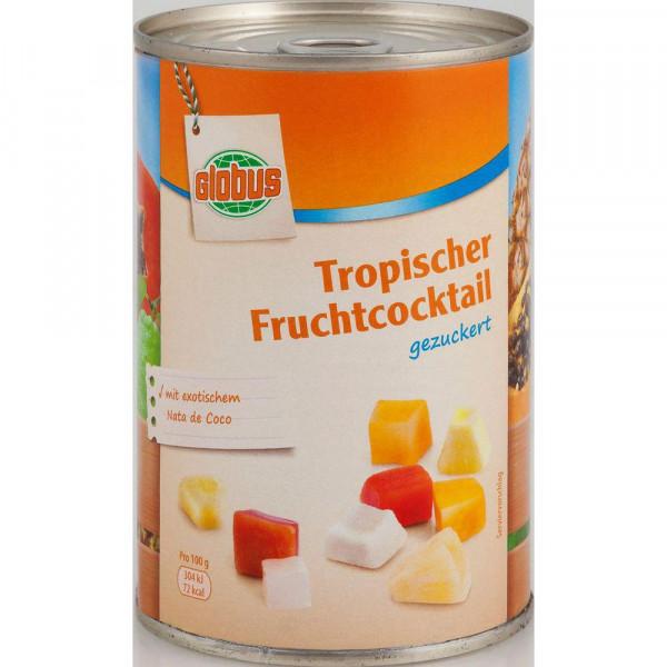 Tropischer Fruchtcocktail, gezuckert