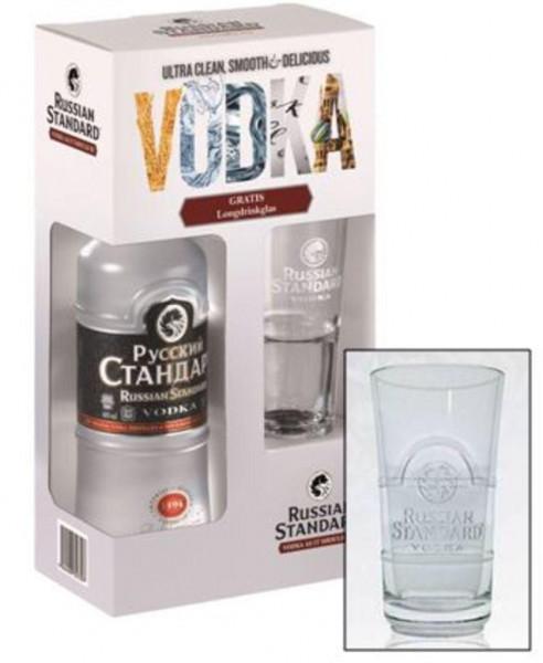 Wodka 40% mit Glas