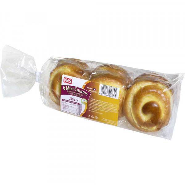 """6 Mini Hefekuchen-Schnecken mit Füllung """"Chinois"""""""