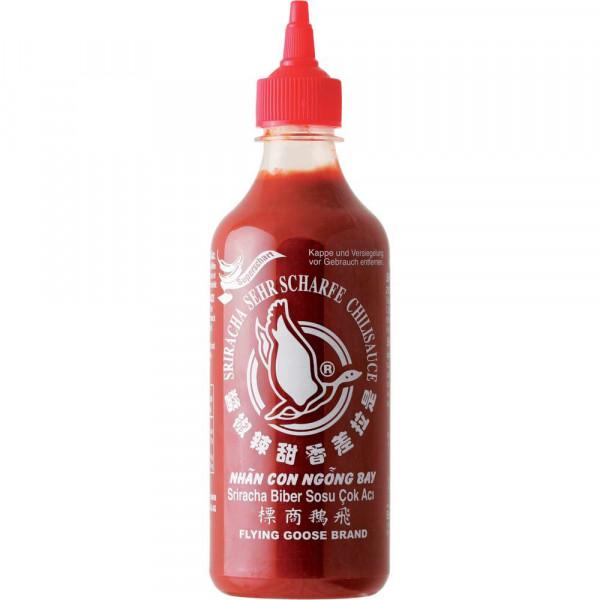 Chilisauce Sriracha, sehr scharf