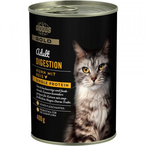 Katzen Nassfutter mit Huhn und Reis, für empfindliche Verdauung