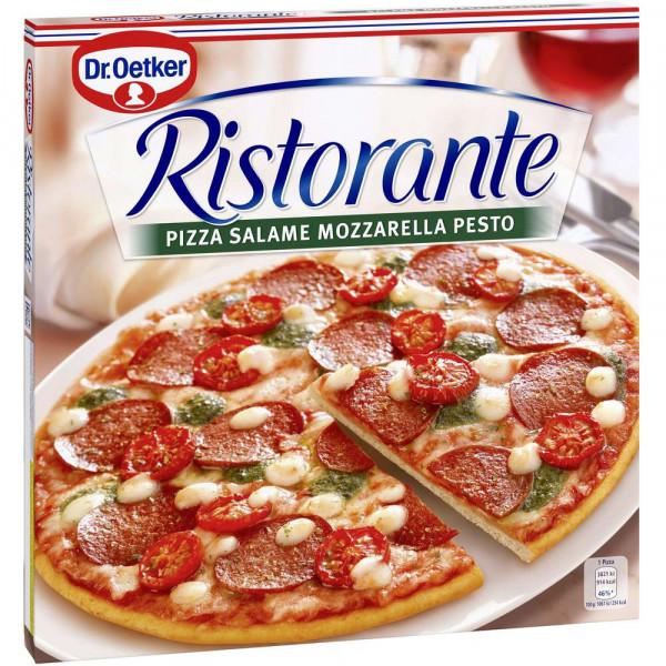 "Pizza ""Ristorante"" Salame Mozzarella Pesto, tiefgekühlt"