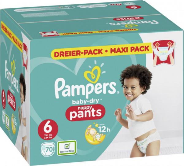 Windeln Baby Dry Pants Gr. 6 XL Dreierpack, 15+kg