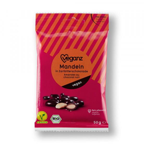 Bio Mandeln in Tartbitterschokolade