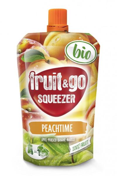 Bio Fruchtdrink Peachtime, Apfel-Pfirsich-Banane-Marille