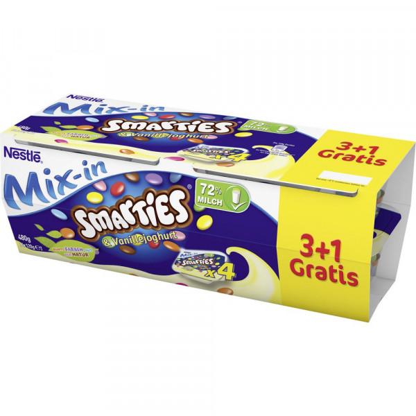 """Joghurt mit Smarties """"Vanille"""", 3+1"""