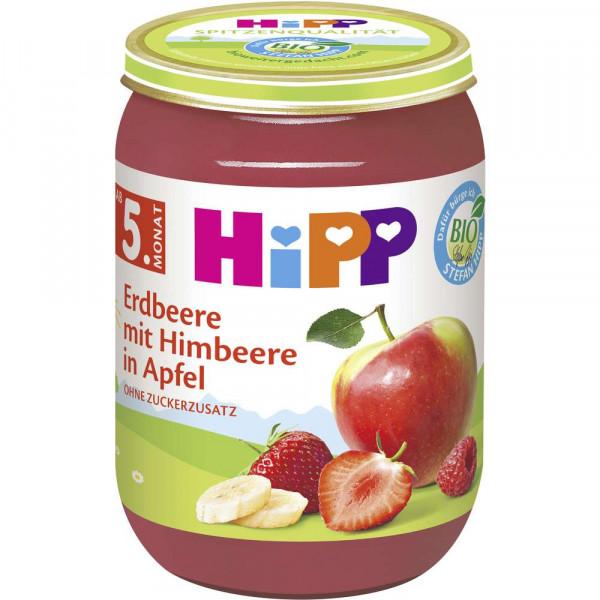 Babynahrung Früchtebrei, Erdbeere/Himbeere/Apfel
