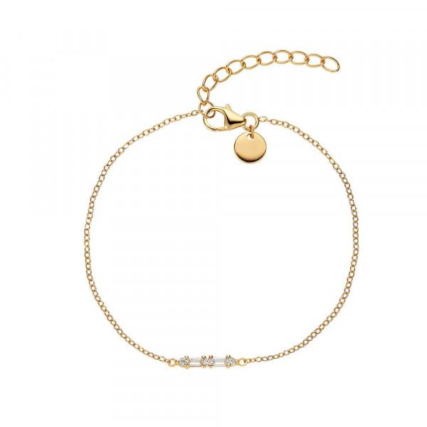 Damen Armband aus Silber 925 mit Zirkonia, vergoldet (4056874025621)