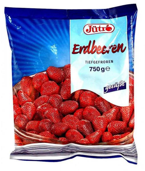 Erdbeeren gesüßt, tiefgekühlt