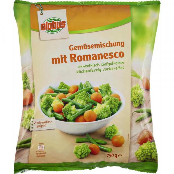 Gemüsemischung mit Romanesco, tiefgekühlt