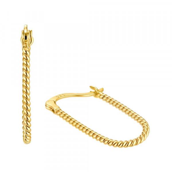 Ohrringe/ Creolen aus Silber 925, vergoldet (4056866091139)