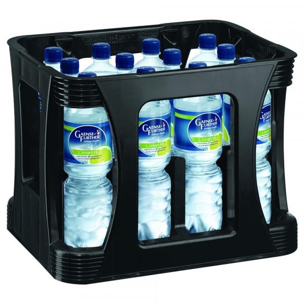 Mineralwasser mit Limetten-Geschmack (12 x 1 Liter)