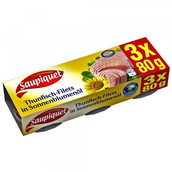 Thunfisch-Filets, in Sonnenblumenöl