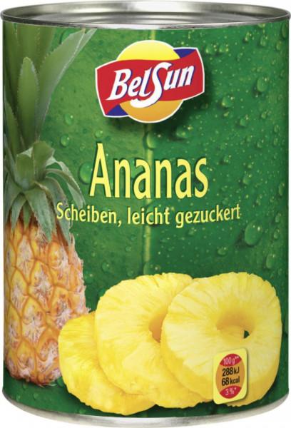 Ananas Scheiben, leicht gezuckert