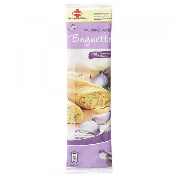 Knoblauchbutter Baguette, zum Aufbacken