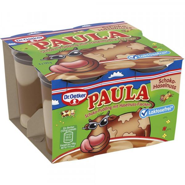 "Schoko-Pudding ""Paula"" mit Haselnuss-Flecken, laktosefrei"