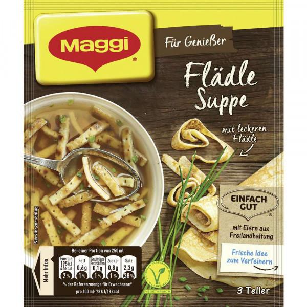 Genießer Suppe, Flädle
