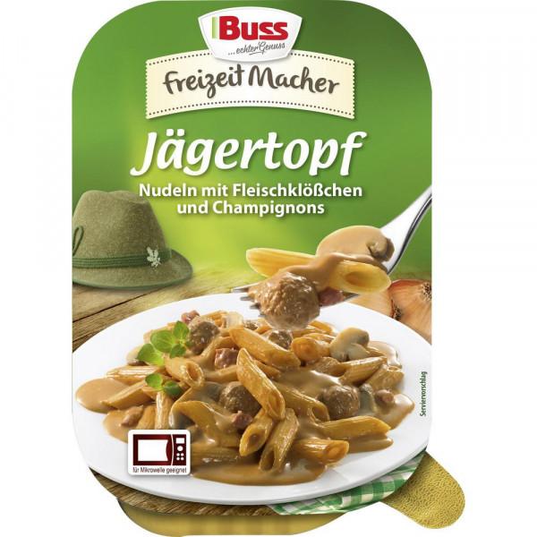 Jägertopf - Nudeln mit Fleischklößchen & Champignons